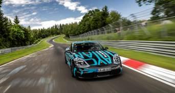 Электрокар Porsche Taycan установил невероятный рекорд скорости: видео
