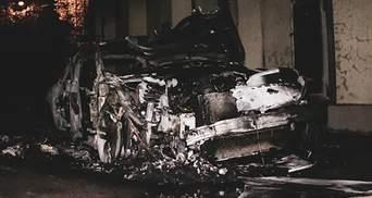 Авто невестки Гонтаревой сожгли в Киеве: фото, видео