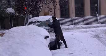 Штат США завалило аномальным снегом: впечатляющие фото, видео