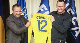 Сенцов та інші звільнені полонені відвідають матч збірної України з Португалією