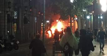 В Барселоне полиция применила резиновые пули для разгона демонстрантов