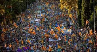 В Барселоне в поддержку референдума вышли 350 тысяч людей, не обошлось без новых столкновений
