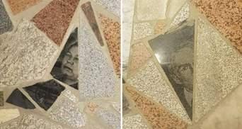Підлога з надгробків і з портретами померлих з'явилася у торговому центрі: фото, відео