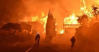 Зірок Голлівуду евакуюють з Беверлі Хіллз: фото та відео масштабної пожежі