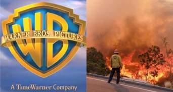 Киностудию Warner Bros эвакуировали из-за пожаров в Калифорнии: видео