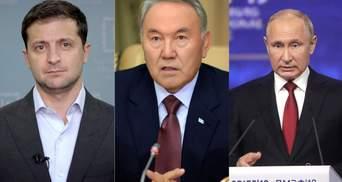 Назарбаєв хоче організувати зустріч Зеленського і Путіна