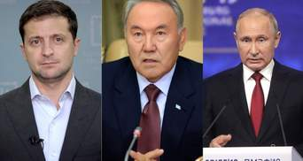 Назарбаев хочет организовать встречу Зеленского и Путина