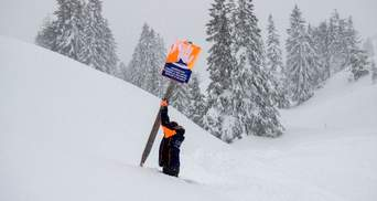Нові жертви негоди: Австрія та Словенія потерпає від рясного снігу
