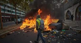"""Затримання та сутички: у Парижі поновились протести """"жовтих жилетів"""" – фото, відео"""