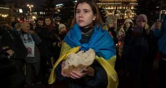 У Москві вшанували пам'ять жертв Голодомору: фото та відео