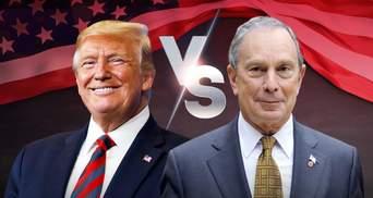 Дональд Трамп против Майкла Блумберга в цифрах