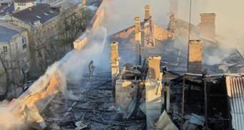 По факту пожара в Одесском колледже полиция открыла дело