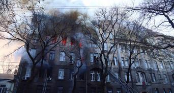 Пожар в колледже Одессы: что случилось со спасателями и в каком они состоянии