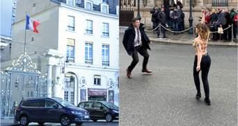 """""""Остановите войны Путина"""": активистки Femen устроили акцию протеста под Елисейским дворцом"""