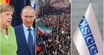 Головні новини 7 січня: Меркель їде до Путіна, трагедія в Ірані, неправдиві заяви ОБСЄ