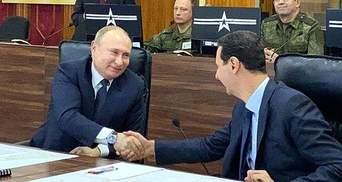 Путін на Різдво полетів до Сирії, яку розбомбив у грудні