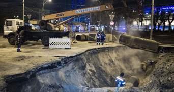 Через прорив труби біля Ocean Plaza транспорт Києва змінив маршрути