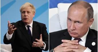 Джонсон нагадав Путіну про Солсбері та відмовився говорити про нормалізацію стосунків