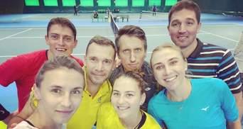 Шевченко провів тренування з зірками українського тенісу