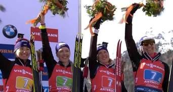 Як нагороджували Україну за бронзу на чемпіонаті світу з біатлону: відео