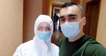 Скалецька в захисному костюмі вперше зустрілася з евакуйованими: фото