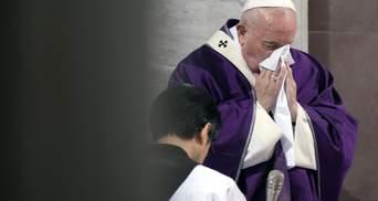 Папа Римський Франциск захворів після зустрічі з парафіянами: фото