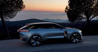 Renault представила раздвижной электрокар с беспроводной зарядкой