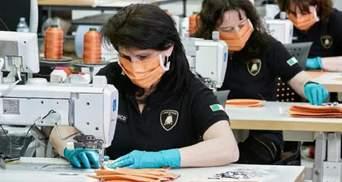 Завод Lamborghini в Італії перейшов на виробництво медичних масок: фото