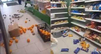 У російському місті люди розтрощили магазин з продуктами: шокуюче відео