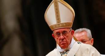 Папа Римський вважає пандемію коронавірусу відповіддю природи на зміни клімату