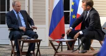Путин не меняет своей тактики, или Российский президент шантажировал Макрона