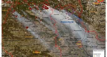 Наслідки масштабних пожеж в Україні: фото з супутників