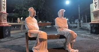 "В Малайзии во время карантина на улицах патрулируют ""призраки"": фото, видео"
