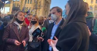Дело об убийстве Гандзюк: активисты пришли с протестами под ОП и дом Венедиктовой
