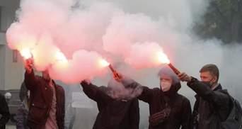 Свободу Хаецкому: под МВД активисты защищают арестованного за пожар в колледже на Троицкой