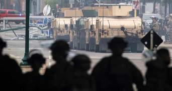 Из-за протестов в США впервые за 28 лет вывели армию на улицы: видео