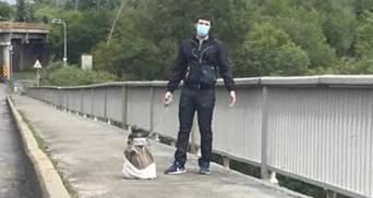 Суд відправив під варту мінера мосту Метро у Києві