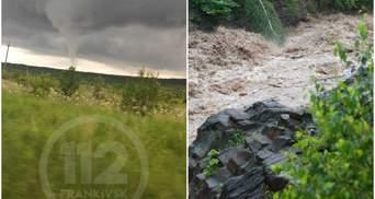 Смерч і потоп: вражаючі фото та відео бурхливої негоди на Прикарпатті