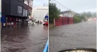 Улицы в Черновцах и селах Буковины превратились в бурные реки: впечатляющие видео
