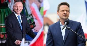 Выборы президента Польши 2020: Дуда и мэр Варшавы Тшасковский вышли во второй тур