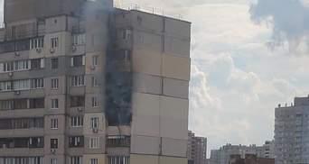 На Позняках в Киеве горит многоэтажка: это рядом с домом, где недавно прогремел взрыв