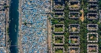 Соціальна нерівність з повітря: фото різниці між кварталами багатіїв та бідняків з усього світу