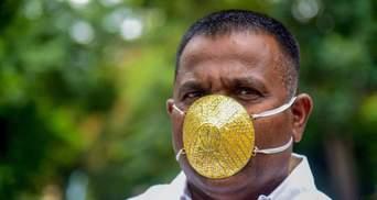 Из золота: в Индии бизнесмен надеется, что его особая маска защитит от COVID-19