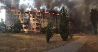 В Новой Каховке масштабный пожар в пятиэтажке – фото и видео