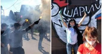 Зеленка, выстрелы, петух: что известно о конфликте Нацкорпуса и сторонников Шария в Харькове