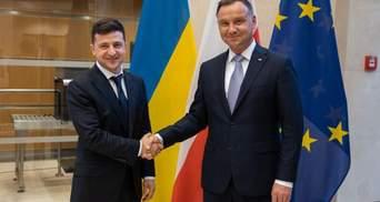 Зеленский поздравил Дуду с победой на выборах и пригласил в Украину