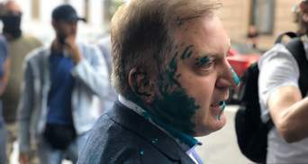 Депутата від ОПЗЖ Волошина облили зеленкою: поліція вже затримала двох чоловіків
