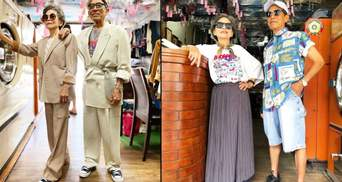 Пара пенсіонерів створює стильні образи з речей, які люди залишили у їхній пральні: чарівні фото