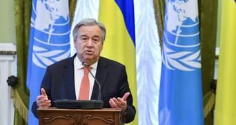 Генсек ООН закликав дотримуватися домовленого режиму тиші на Донбасі