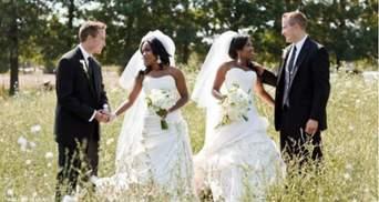 Сестри-близнючки вийшли заміж за братів-близнюків: милі фото